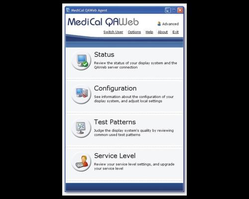 MediCal QAWeb oprogramowanie BARCO do kalibracji i kontroli monitorów medycznych