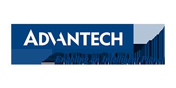 Alstor SDS logo Advantech białe na niebieskim tle z namisem Enabling an Intelligent Planet